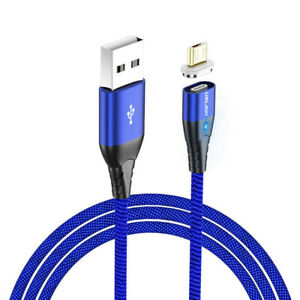 Magnetic 3A Fast Charging Type C Micro USB Data Cable 1M For Cell Phone Hot