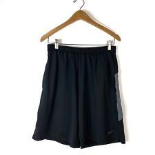 Nike Fit Dry Black Shorts Gray Detail Pockets Mens Large Basketball Athleisure