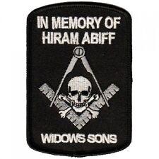 In Memory of Hiram Abiff Patch, Masonic Patches, Mason Biker Patch,