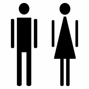 Man Woman Toilet Bathroom Door Sign Tattoo Sticker Decor Film Information Shield