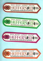 BOOKMARK Vintage Heffer Bookshop Petty Cury Cambridge Bookshop Bookseller Gift