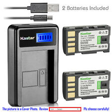 Kastar Battery LCD Charger for JVC BN-VF808 BN-VF808U & JVC GZ-MG435 Camcorder