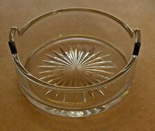 Antique Depression Clear Glass Round Bowl Star Bottom Tab Handles Pressed Old
