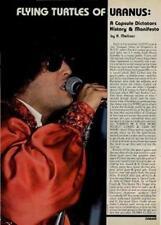 Dictators Interview/article Creem magazine 1978