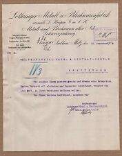 Sablon-Metz, lettre 1909, Lorraines métal-U. tôle étaient-Usine devant la. L. HOUPIN