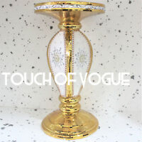 Gold Mirrored Side Table Modern Plant Stand BedSide Sparkle End Romany Bed