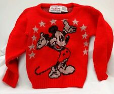 Vtg Walt Disney Sweaters by Cliff Engle Ltd Toddler Size Medium 2 Made in Usa