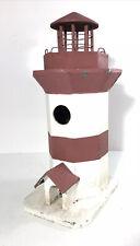 Vintage Weathered Wood Lighthouse Bird House/Bird Feeder-Nautical Lawn Ornament