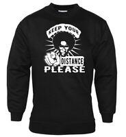 Social Distancing Sweatshirt Message Anti-Virus Keep Your Distance T-Shirt Funky