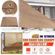 1.8M Outdoor Sun Shade Sail Awning Canopy Garden Patio Sunscreen 95% UV Block ❥