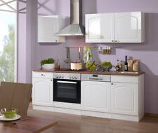 Küchenzeile Landhaus Küche mit Geschirrspüler Küchenblock mit E Geräten 220 cm