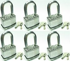 Lock Set by Master M5KALF (Lot of 6) KEYED ALIKE Long Carbide Shackle Magnum