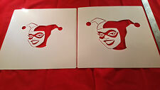 YOUTH ADULT HARLEY QUINN T SHIRT AIRBRUSH STENCILS SET OF 2 FAST FREE SHIP!