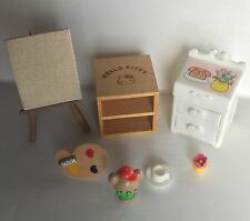 Vintage Japanese Hello Kitty Dollhouse Furniture - Fits Sylvanian Families
