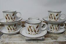 6 Vintage Midwinter Stonehenge Wild Oats Tea Coffee Cups Mugs & Saucers Set