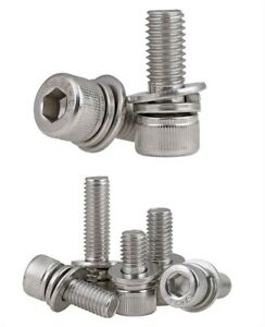 M2.5 M3 M4 M5 M6M8 Hexagon socket screws 304 stainless steel flat spring washer