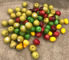 Lot 77 Faux Fake Plastic Fruit Pear Lemon Red & Green Apples Display Decorative