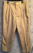 DOCKERS Men's Khaki Pleat Front Classic Fit Dress Casual Pants 36X30   #bt014