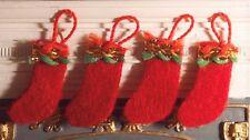 1:12th Felt Christmas Stockings Decorations Dolls House Miniature Accessories