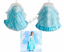 DISNEY STORE Princess ELSA Frozen Deluxe Dress Costume Sz. 5 6