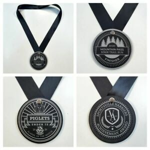 Medal Sports Sport Customised Logo Slate Running Cycling Participation Finisher
