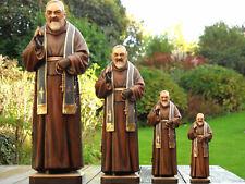 Pater Pio, Padre Pio, Heiligenfigur, Holzgeschnitzt Skulptur Figur