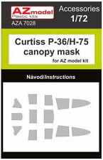 AZ Model 1/72 Curtiss Hawk P-36/H-75 Canopy Mask for AZ Model kit # A7028