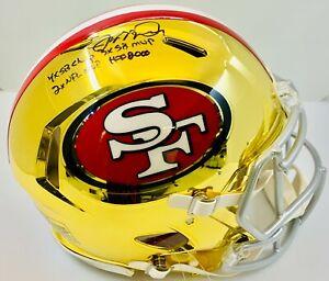 Joe Montana Signed Inscribed Full Size Chrome Authentic Riddell Helmet Fanatics