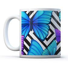 Pretty Blue Butterflies - Drinks Mug Cup Kitchen Birthday Office Fun Gift #8661