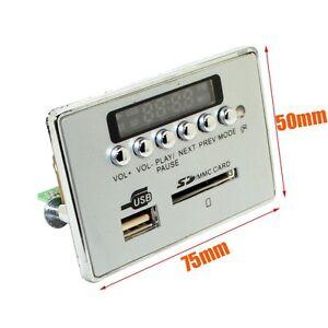 Universal 12V LCD Digital Car Bluetooth Wireless Audio Module USB SD TF FM Radio