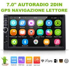 """7.0"""" HD Touchscreen AUTORADIO 2DIN 16GB Android 6.0 GPS NAVIGAZIONE LETTORE WIFI"""