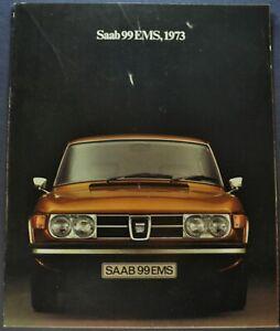 1973 Saab 99 EMS Sedan Catalog Sales Brochure Nice Original 73
