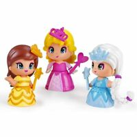 Pinypon Set 3 Bambole Personaggi Principesse Mix Max con Accessori Gioco Famosa