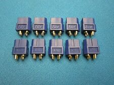 10 XT60 FEMALE CONNECTOR PLUG GENUINE AMASS BLUE 3.5MM BULLET RC XT 60 BATTERY