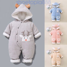 Baby Warm Clothes Boy Jumpsuit Girl Romper Hooded Cartoon Animal Infant Newborn