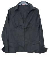 Thomas Pink Black Shirt Women Size 16 Long Sleeve Elegant (C830)