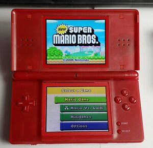 Nintendo DS Lite Mario Edition red