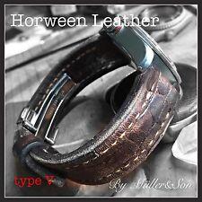 Müller&Son 22 mm Horween Leather Timeworn Alligator Print Watch Strap Deployment