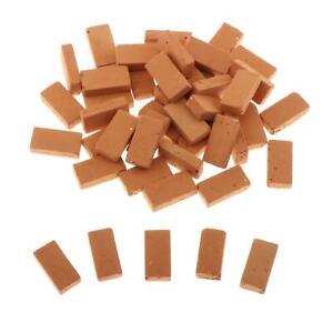 50 lot Realistic 1/16 Mini Clay Brick Building Armor Scenery DIY Accessory