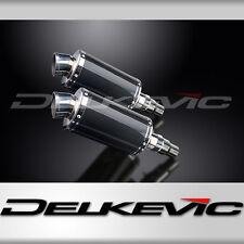 "Triumph Speed Triple R 1050 9"" Carbon Oval Muffler Exhaust Slip On 12 13 14 15"