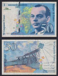 France 50 Francs Saint-Exupéry 1993 BB / VF B-10