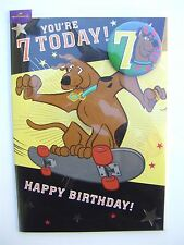 Scooby doo skate boarding birthday card for age 7 (SEVEN) by Hallmark – 10688283