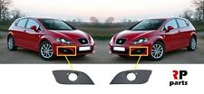 FOR SEAT LEON 2009 - 2012 NEW FRONT BUMPER FOGLIGHT GRILL BLACK PAIR SET