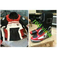 Ducati Corse motorbike motorcycle leather jacket shoe all size avalible