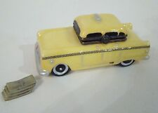 Porcelain Hinged Box  - Yellow Taxi Cab with Cash Trinket Box