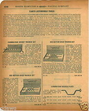 1920 PAPER AD 4 PG Varco Car Auto Automobile Socket Wrench Set Red Button Store