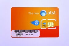 NEW AT&T PREPAID GO PHONE 3G SIM CARD READY ACTIVATE, SKU 73043/71247