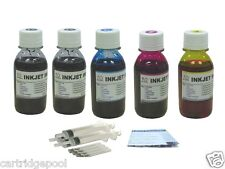 Refill ink kit for HP 61 61XL:Deskjet 1000 3000 3050 3050A 3054 5x4oz/s
