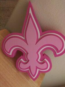 NFL Fan FoamHeads Fleur-de-lis Foam Wall Hanging - PINK
