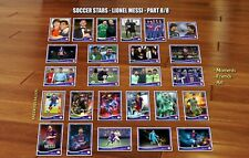 Messi 25 cards moments relax friends art soccer football stars rookie Lionel